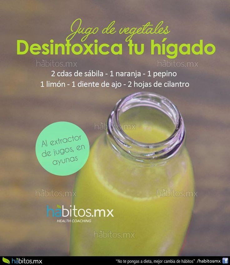 Hábitos Health Coaching | JUGO DE VEGETALES DESINTOXICA TU HÍGADO