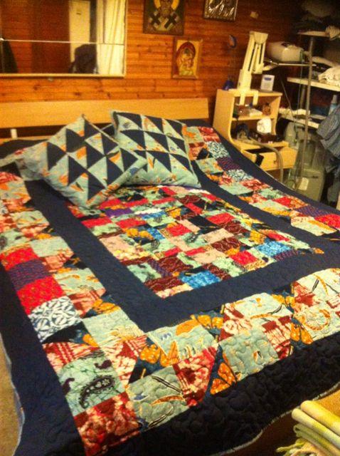 Bed patchwork quilt