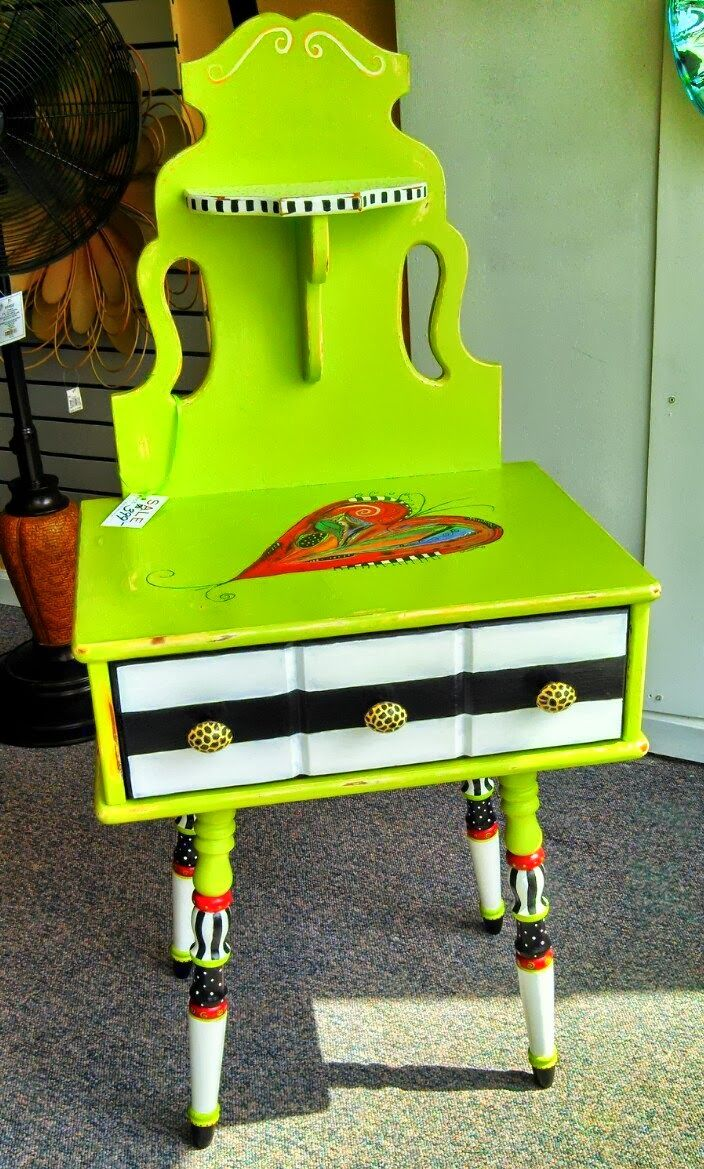 Funky painted furniture ideas - Vintage Telephone Stand By Carolyns Funky Furniture