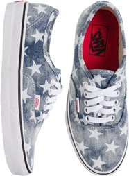 Vans for women stars and stripes sneakers http://www.swell.com/Womens-Footwear/VANS-AUTHENTIC-WASHED-SHOE?cs=BU