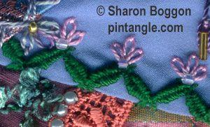 Take a stitch Tuesday 75 Woven Zig Zag Chain
