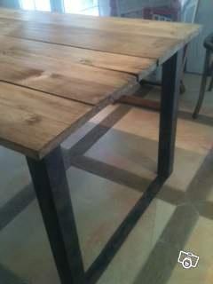 Table a manger Design Bois Bois brut et pieds en U Ameublement Var - leboncoin.fr