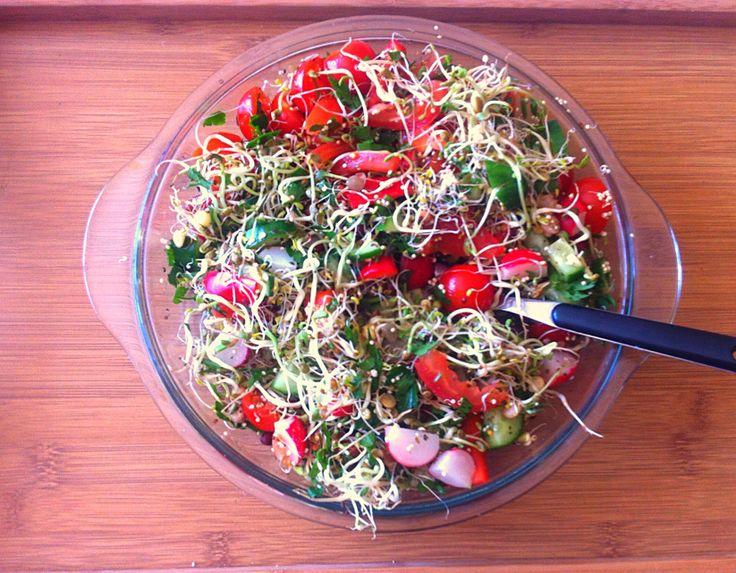 Big salad... Yummy raw