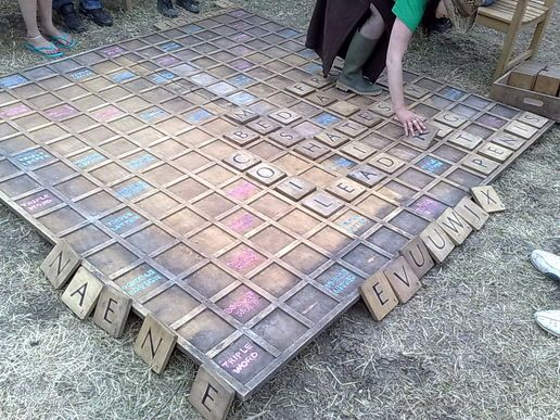 Backyard Scrabble Tiles : Scrabble, DIY and crafts and Outdoor on Pinterest