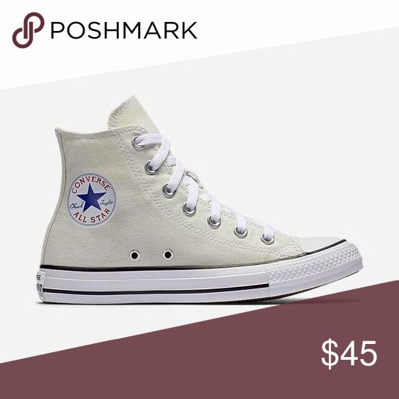 NWOT off white converse hi-tops men's 10.5 Never worn. New without tags. Chuck all-stars Converse Shoes Sneakers