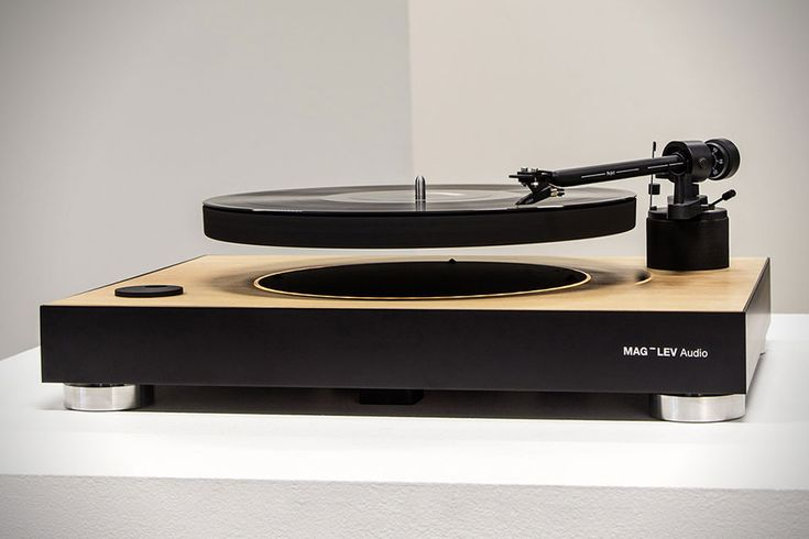 This unique vinyl turntable suspends its platter on a cushion of air using magnetic levitation—how cool is that?
