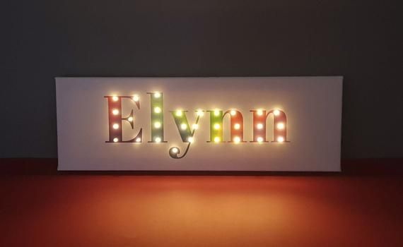 Lighted Letters Name Lights Lighted Name Sign Rainbow Wall Art Rainbow Letters Light Up Name Light Up Letters Custom Sign Kids Sign Etsy Led Signs