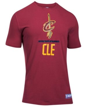 Under Armour Men's Cleveland Cavaliers Lockup T-Shirt - Red XXL