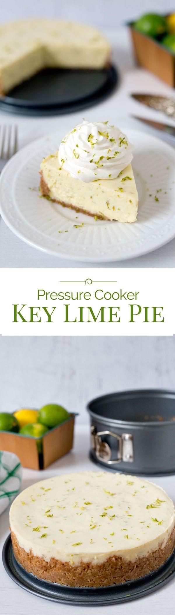 A tart, creamy key lime pie with a graham cracker crust