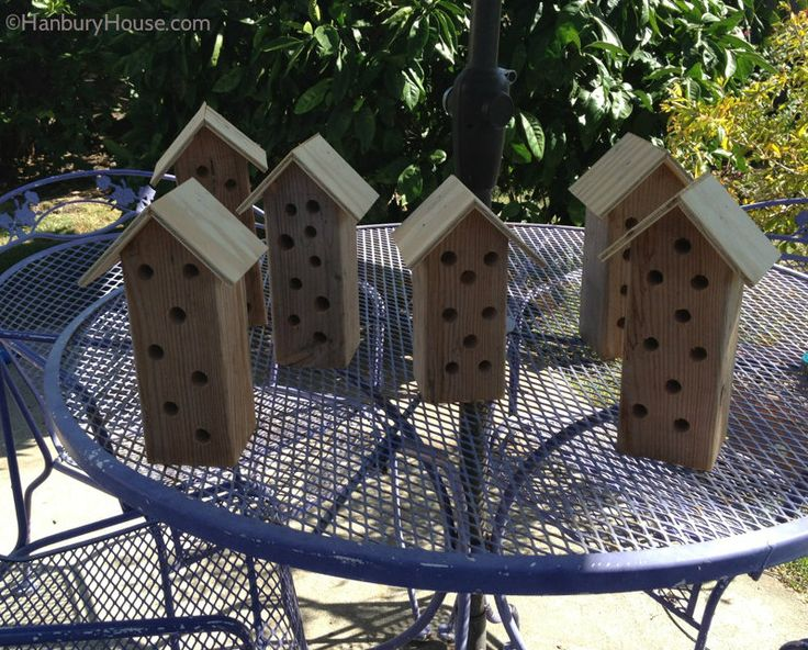 Making Carpenter Bee Houses