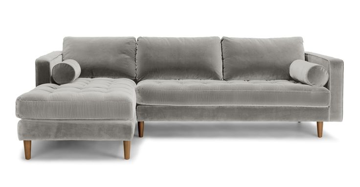 Sven Intuition Gray Left Sectional Sofa - Sectionals - Article | Modern, Mid-Century and Scandinavian Furniture
