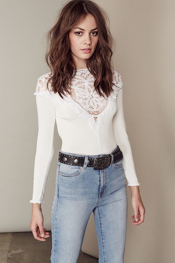 FOR LOVE & LEMONS - Penelope Bodysuit - White