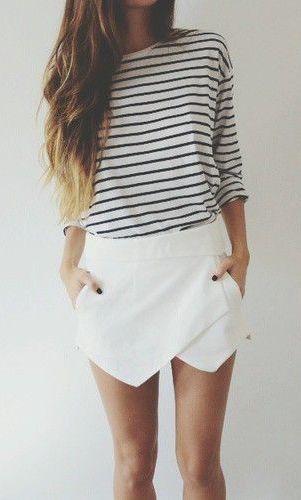 stripes + skort//