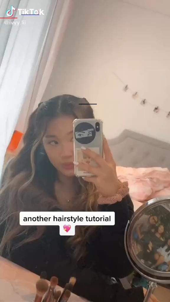 Cute Curly And Wavy Pigtails Hair Tutorial Beauty Tiktok Hairhacks Hair Tutorial Long Hair Styles Hair Styles