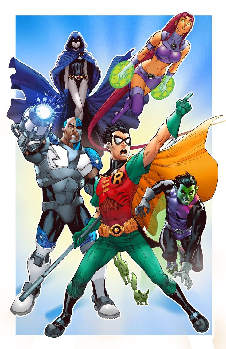 Teen Titans By Mike S Miller  Dc  Jovens Tits, Jovens -2408
