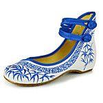 Mujer Bailarinas Confort Alpargatas Zapatos bordados Tejido Primavera Verano Otoño Invierno Casual Hebilla Flor Tacón PlanoNegro Rojo 2018 - $10.99