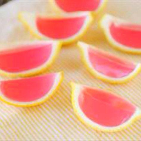 Pink lemonade jello shots!