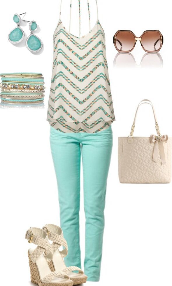 Love the outfit. This just screams summer time to me:) I look great in pastels. The only downfall is the spaghetti straps...can't wear a proper bra. Otherwise, love it.