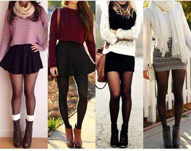 18 autumn outfits with skirts