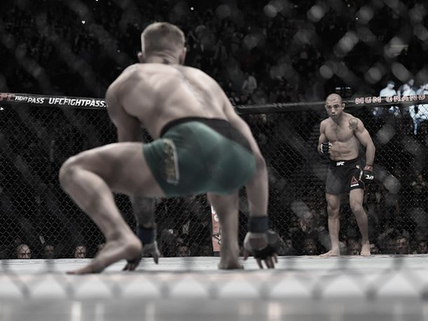 En las últimas horas se ha vuelto viral en las redes sociales una imagen de José Aldo. Un aficionado fotografió al peleador brasileño en su camerino luego de perder el título peso pluma de UFC en UFC 194 ante el irlandés Conor McGregor.