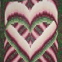82 best Barello images on Pinterest | Quilting patterns, Zippers ... : heart bargello quilt pattern - Adamdwight.com