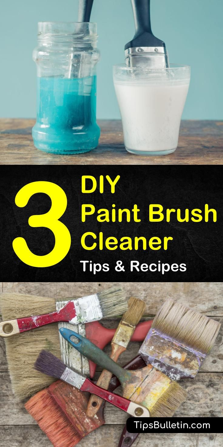 3 Simple Paint Brush Cleaner Solutions Cleaning paint
