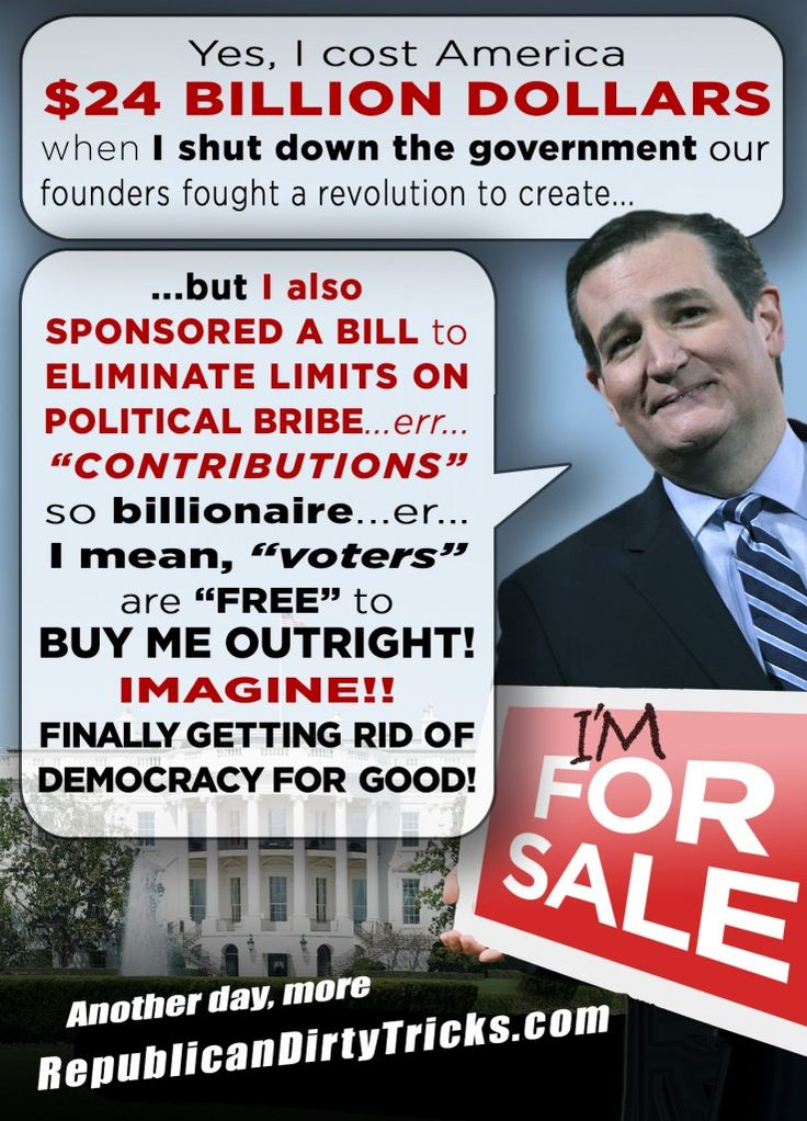 TED CRUZ for SALE. If there's one thing TX knows how to produce, its political crooks and cronies.  Thanks TX for this one...he's a gem!