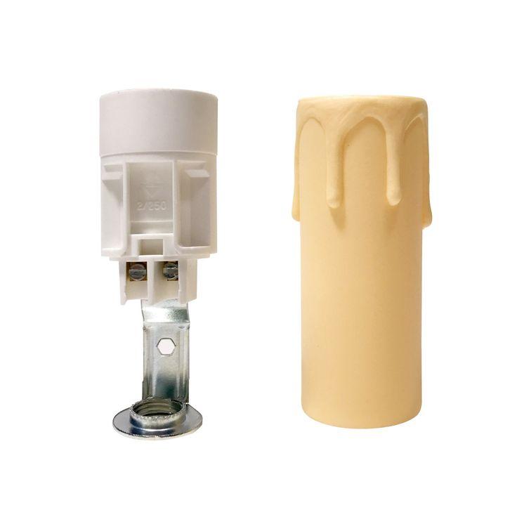 Comprar | Funda vela con gotas beige 10cm | Fundas y velas restauración lámparas #handmade #accesorioslamparas #accesoriosiluminacion #fabricartulampara #accesoriosvintage