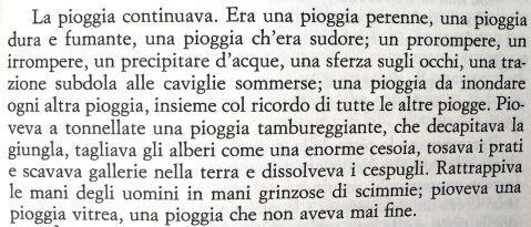 """Dal racconto """"Pioggia senza fine"""" di Ray Bradbury"""