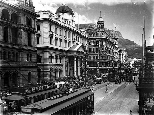 Adderley street, trams