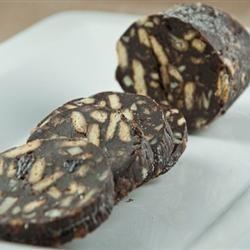 Рецепт: Шоколадный торт Колбаска - Пироженое колбаска