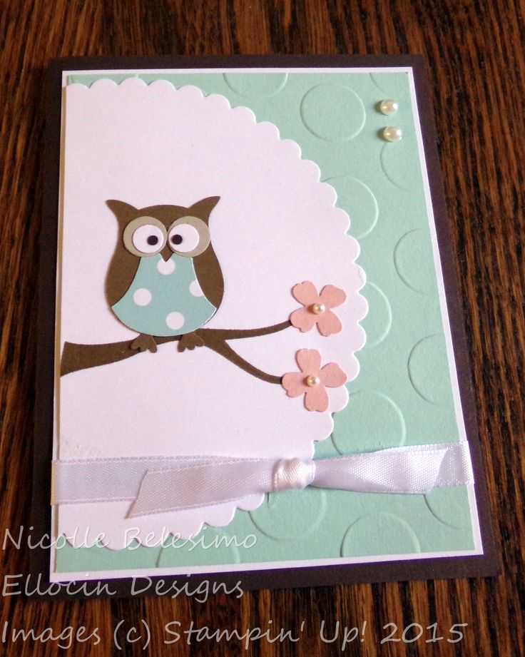 Cute all occasion card made with the Owl Builder Punch from Stampin' Up!