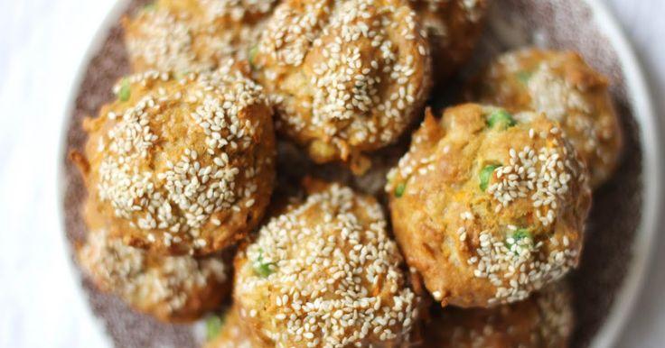 lilla matdériven: Grymma grönsaksmuffins för små