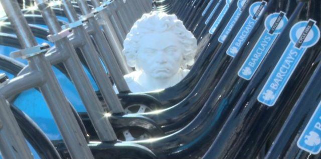 14 best birthday greetings bottle of wine images on pinterest the royal philharmonic society heralds its birthday in 2013 by sending its iconic bust of beethoven out on to the streets of london m4hsunfo