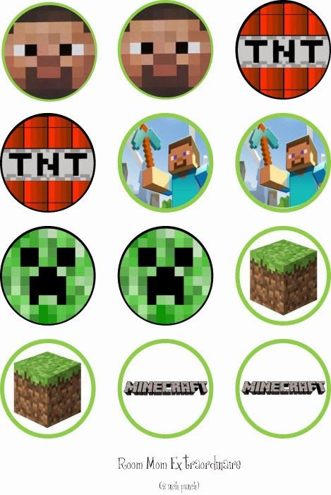 Minecraft+Cupcake+Toppers.jpg 469×701 pixels