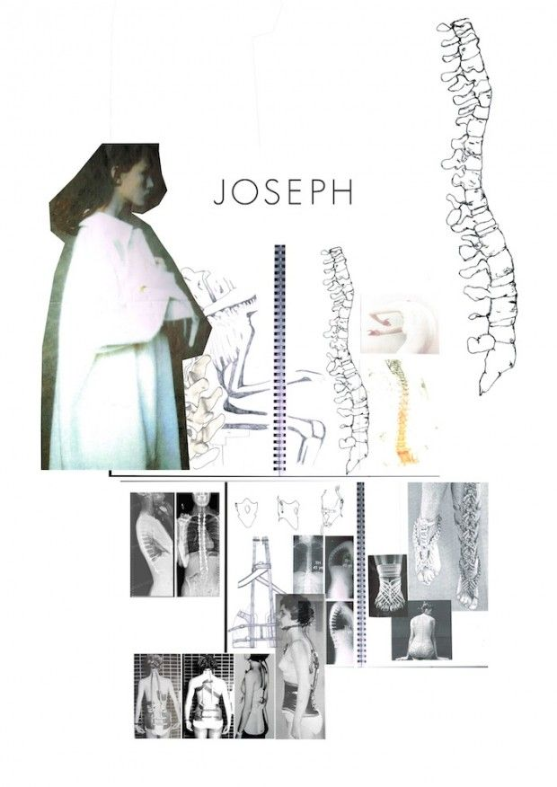 Fashion Sketchbook - skeletal fashion design research and sketches; fashion portfolio // Jodi Worbey