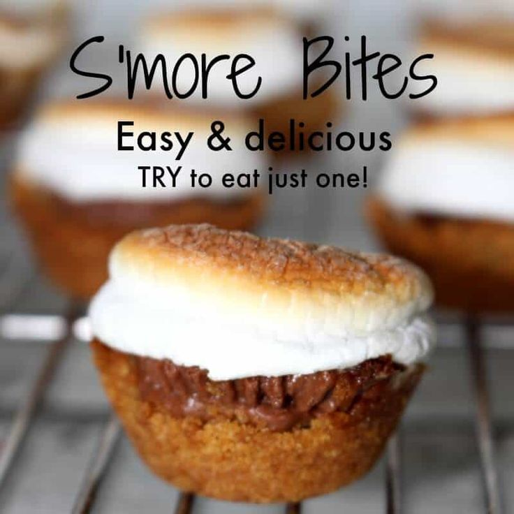 s'mores bites - chocolate, graham cracker and marshmallow. A s'mores recipe you can enjoy all year round