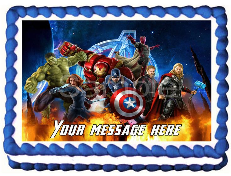 THE AVENGERS Image Edible Cake topper party decoration #Kopykake #AnyOccasion