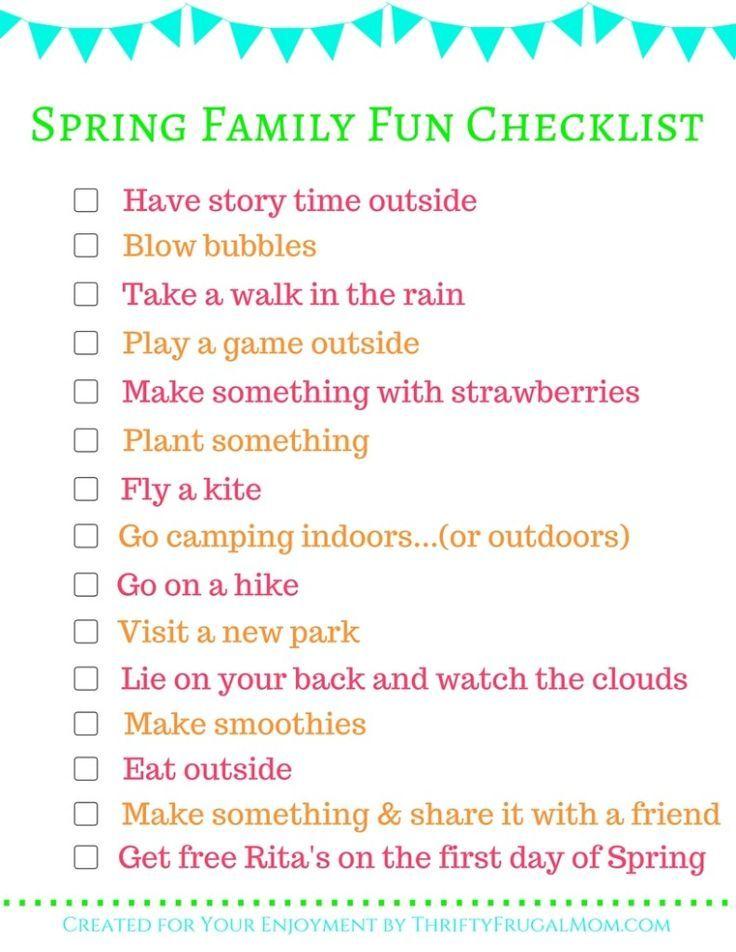 Spring Family Fun Checklist