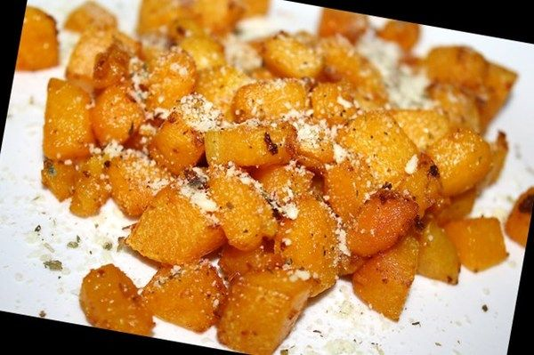 Parmesan-Oregano Butternut Squash (Actifry)