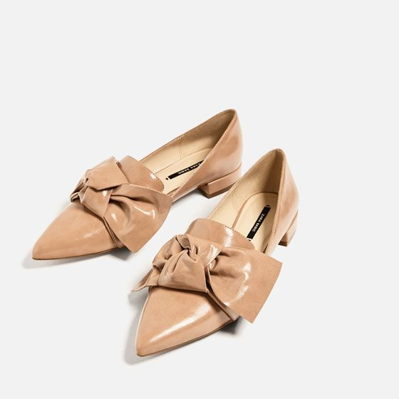 Image 4 of FLAT SHOES WITH BOW DETAIL from Zara