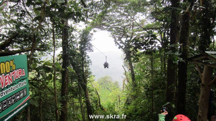 Plus grande tyrolienne d'Amérique Centrale au Costa Rica