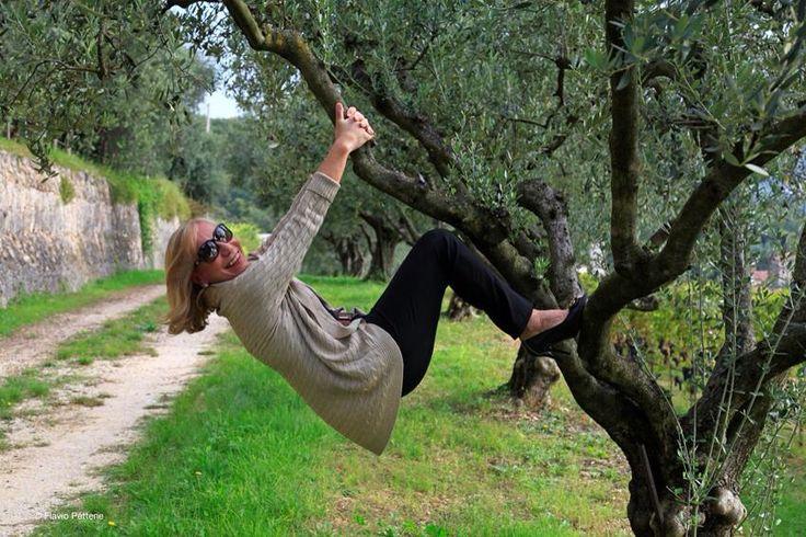 "Marilisa Allegrini joyously takes a moment to ""hang out""."