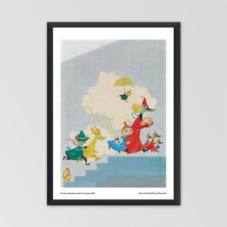 Moomin poster - The Aurora Hospital mural by Tove Jansson exclusively from The Official Moomin Shop! Available in two sizes: 70 x 50 cm