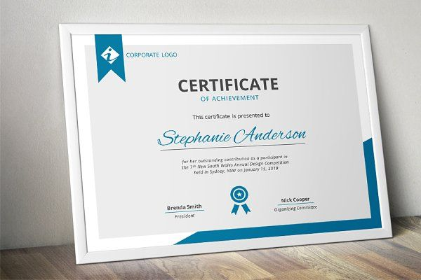Modern MS Word certificate template - Stationery