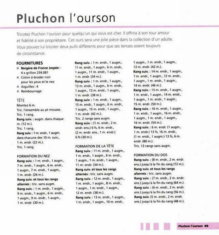 Image - OURSON AVEC SES DEUX PULLS AU TRICOT. - Blog de le-tricot-de-marcelle - Skyrock.com