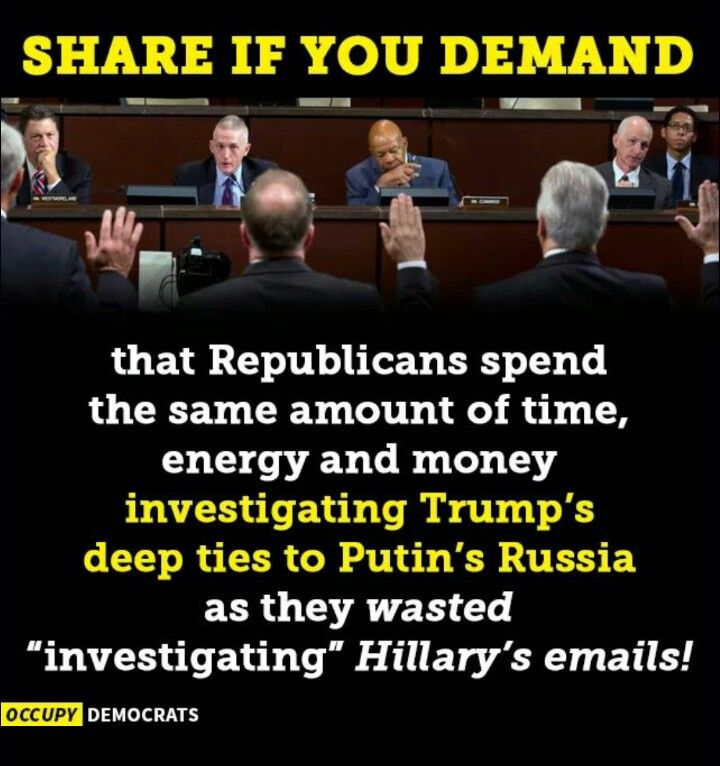 They won't do it! They will never investigate Trump no matter what he does! Did they check out Chaney?