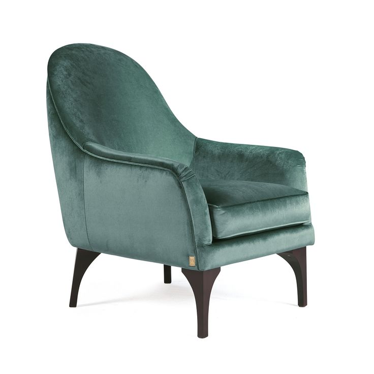 Blue Peony Doha Accent Chair: Armchair, Sofa Chair, Blue Armchair