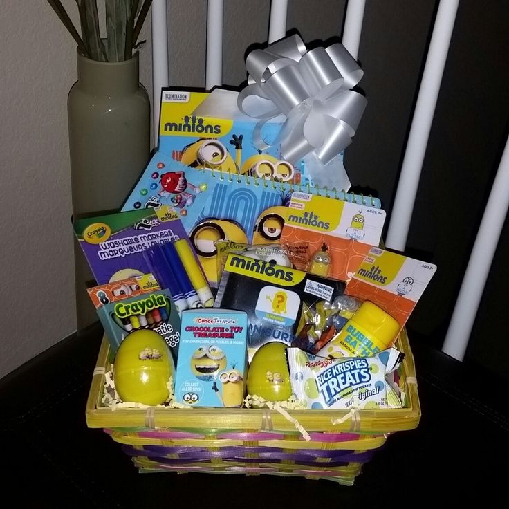 The 25 best filled easter baskets ideas on pinterest easter egg minions pre filled easter basket gift minions despicableme children kids boy negle Choice Image