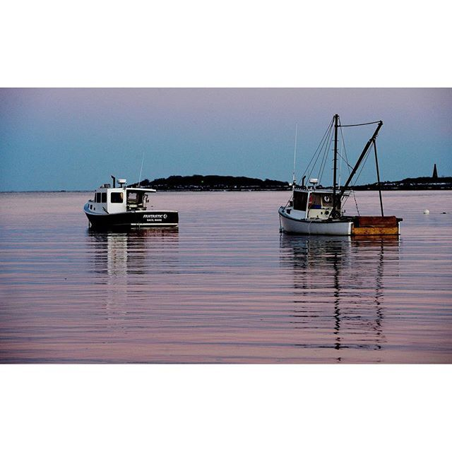 Lobster boats at the mouth of the Saco River in Camp Ellis by Staff Photographer Shawn Patrick Ouellette